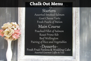 Chalk Out Menu