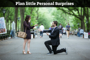Plan little Personal Surprises